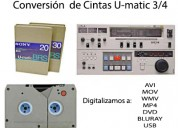 Digitalización inmediata. salva tus cintas de audio y video vhs, ¾ u-matic, 8mm, 16mm, todo a usb,