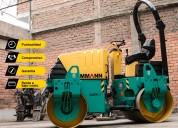 Alquiler de rodillo compactador ammann - alo gruas maquinarias