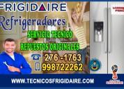Reparaciones garantizadas frigidaire (refrigeradoras) 276-1763
