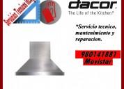 980141881 dacor servicio tecnico mantenimiento campanas extractoras