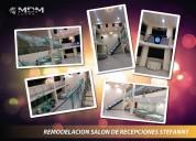 SalÓn de recepciones, diseÑo, decoraciÓn, remodelaciÓn - atenciÓn a nivel nacional