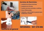 Servicio de gasfitero electricista