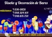 bares, bar, diseÑo y decoraciÓn - atenciÓn a nivel nacional
