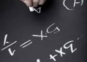 Clases de matematicas/ atiendo surco, san borja.