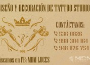 Tattoo studio, diseÑo y decoraciÓn de local atenciÓn a nivel na, lima