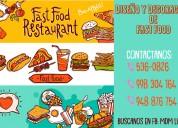 Fast food, comida rÁpida - diseÑo y decoraciÓn - atenciÓn a nivel nacional