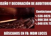 Auditorio, diseÑo y decoraciÓn - atenciÓn a nivel nacional