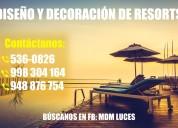 Resort, diseÑo y decoraciÓn - atenciÓn a nivel nacional