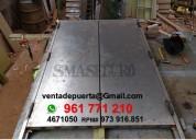 Fabricantes de puertas metalicas de escape en surco