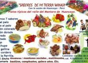 Servicio de comidas en huancayo
