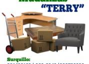 Servicio de carga y transporte de muebles, equipos o mercadería a nivel nacional