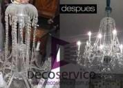 991153920 arañas y lamparas de cristal damos arreglos y mantenimiento