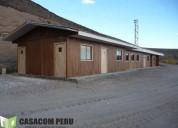 Campamentos prefabricados de madera peru