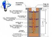 Construccion de pozos a tierra y sistemas de puesta tierra, ingeniero electricista cip n° 66634
