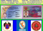Ingeniero electricista colegiado, ing. electrico cip n° 66634