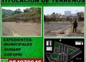 Sub divisiones y titulacion de propiedades, chiclayo, jaen, bagua, chachapoyas
