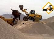 venta de agregados de construcción y eliminación de desmonte