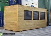 Habiotaciones de madera para terrazas