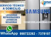 Samsung reparación de -refrigeradoras-998722262 a domicilio breña