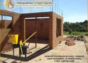 Maquinas para bloques y ladrillos ecologicos de suelo-cemento