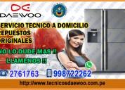 Servicio técnico de refrigeradoras daewoo 2761763-ate