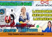 Personal garantizado en lavasecas daewoo. 2761763 magdalena del mar