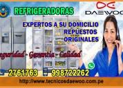 Centro técnico especializado en refrigeradoras daewoo. rimac 2761763