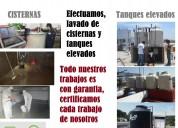 Lavado de tanques y cisternas de agua, para casas y departamentos