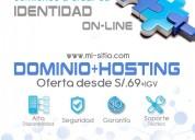 Hosting perú, dominios y alojamiento web