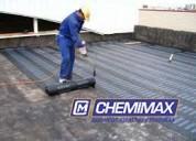 Chemimax! impermeabilización de techos, piscinas, venta de asfalto rc250, mc30, pen, brea