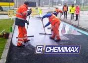 Asfaltado de pistas en lima y provincias, chemimax líder del asfalto, brea sólida y líquida