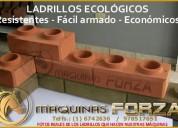Construya viviendas a mitad de precio con ladrillo ecologico