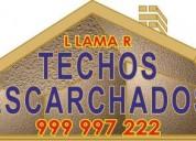 """Cuando el techo de su casa se encuentra en mal estado la  solución """"escarcharla""""  tlf: 99"""
