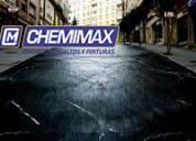 Chemimax! líder en servicio de asfaltado de pistas, slurry seal, parches, bacheos, etc, asfalto