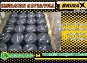 Emulsion asfaltica con polimeros, rompimiento rapido.