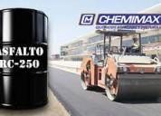 venta de asfalto rc250, mc30, pen 60.70, bitúmen imprimante, brea, emulsión asfáltica