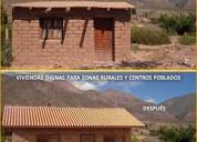 Mejores viviendas a menor costo con ladrillos ecologicos