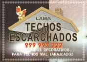 Escarchados decorativos en techos y paredes s/  22.00 m2 -  tef:. 999 997 222