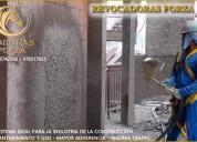 Facil revestimiento de paredes con revocadoras forza
