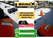 venta e instalacion de manto asfaltico, calidad por expertos.