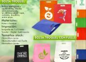 Publicidad, bolsas en tela personalizadas con el logo de tu empresa.