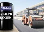 El mejor asfalto rc250 venta x galón, balde y cilindro, bitúmen y brea