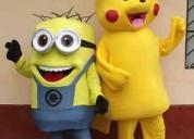 Venta de muñecos minion y pikachu 991764117 c/u 15