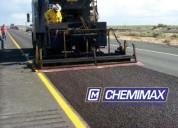 Slurry seal, asfaltado de pistas chemimax! rc250