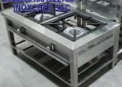 Cocina fornillon industrial acero inoxidable stock