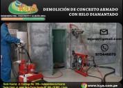 Demolicion de concreto armado con hilo diamantado