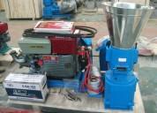 Peletizadora meelko 230 mm 22 hp diesel para conce