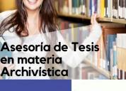 Asesoría de tesis en materia archivística