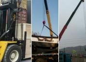 Servicio alquiler gruas telescopicas para carga