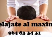 Masajes relajantes e intensos para hombres